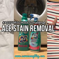 ACE stain removal #aceforschool - @Britmums challenge
