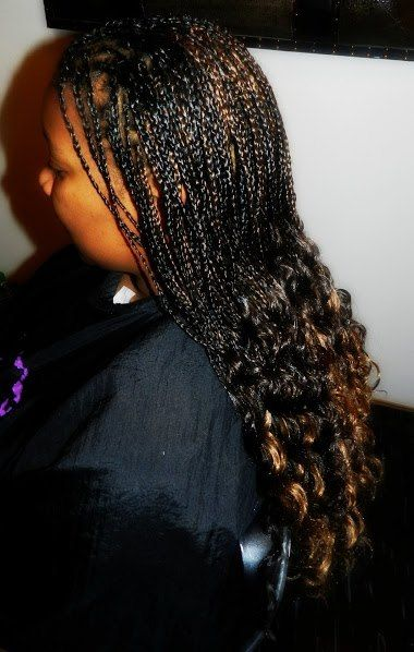 Individual Braids With Curly Ends New Natural Hairstyles