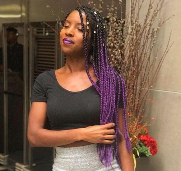 Striking 25 Purple Braids On Dark Skin New Natural