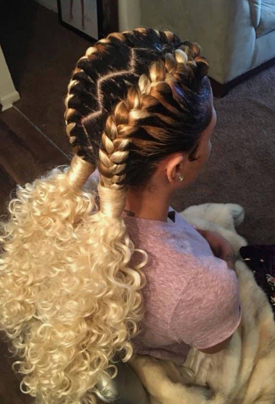 Useful 19 Two French Braids Black Hairstyles Natural