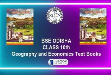 Class 10th Geography and Economics (SSG) Book by BSE Odisha
