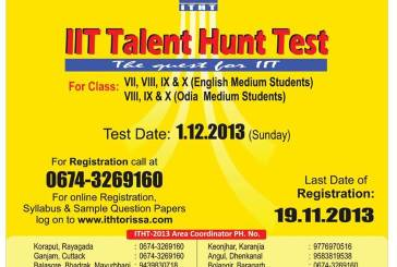 IIT Talent Hunt Test 2013 in Odisha
