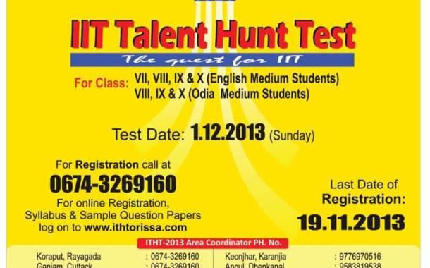 IIT Talent Hunt Test 2013 in Odisha