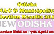 Odisha NAC and Municipality Final Results of 8th April 2015