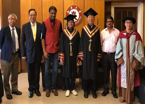 Achyuta Samanta receives honorary doctorate degree from Nanhua University