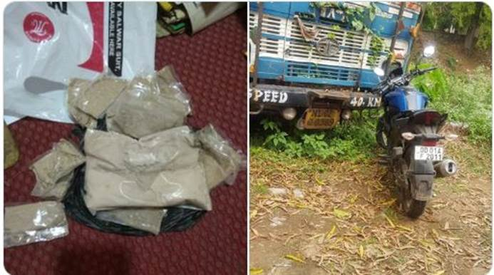Brown Sugar Worth Rs 32 Lakh Seized In Bhadrak of Odisha