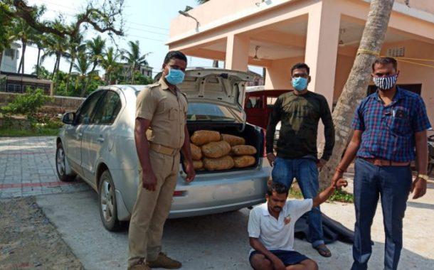 44 kg Ganja seized in Odisha's Puri amid lockdown, One Arrested