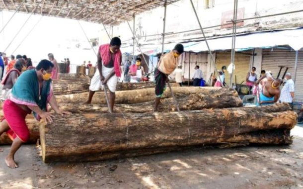 Construction of Chariots for Puri Rath Yatra Begins Today