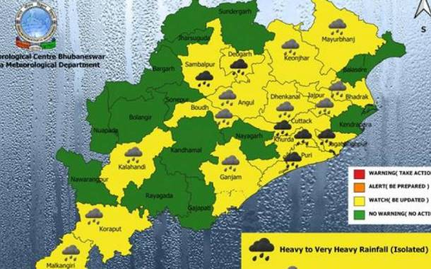 IMD Predicts Heavy Rain In Odisha Till July 23; Yellow Warning For Several Districts