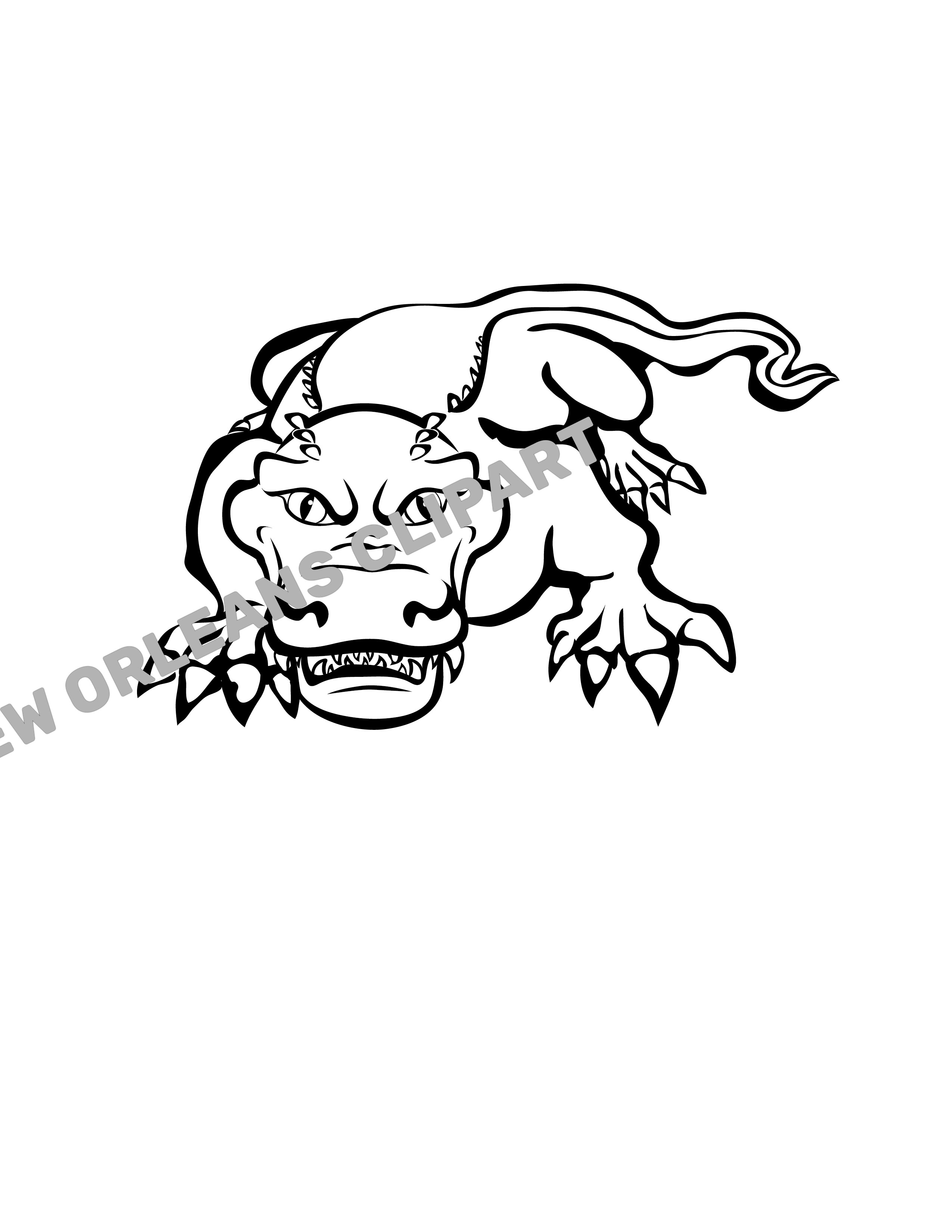 Scary Gator Clip Art