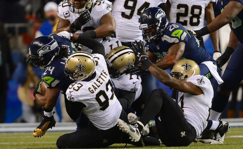 New Orleans Saints @ Seattle Seahawks (video)
