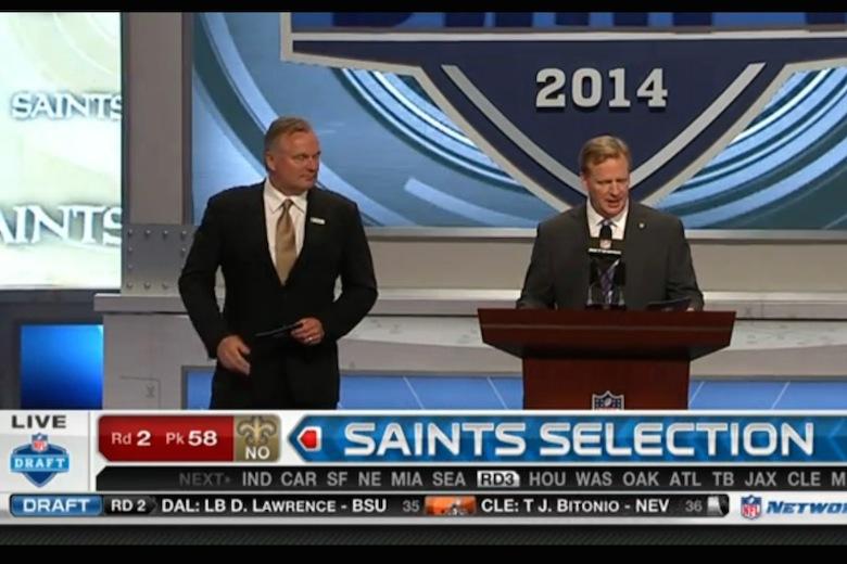 Saints vælger cornerback i anden runde