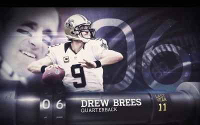 Drew Brees og Jimmy Graham begge i TOP 10