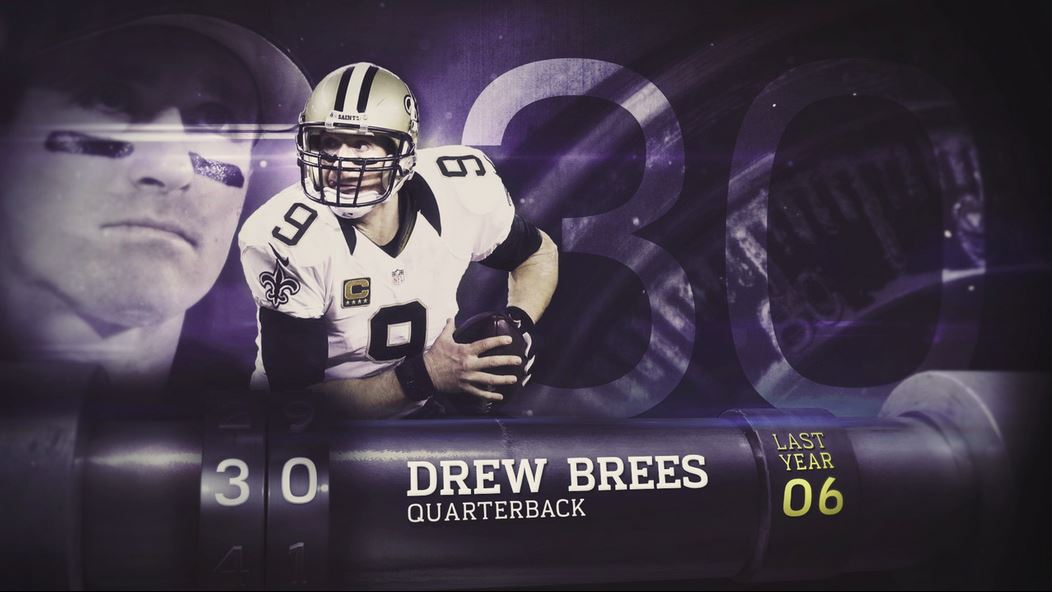 Brees nummer 30 i NFLs Top 100