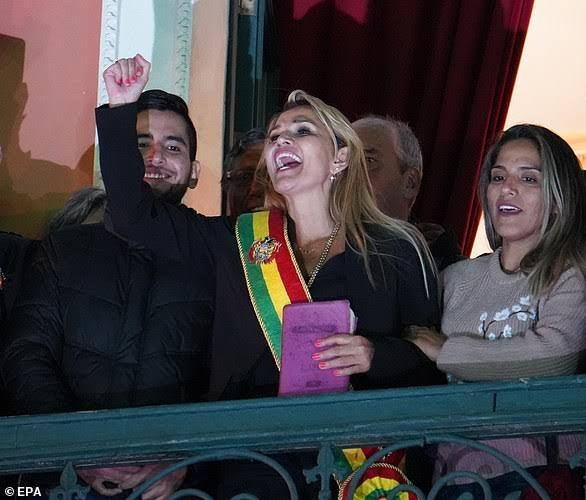 Bolivian president Jeanine Anez