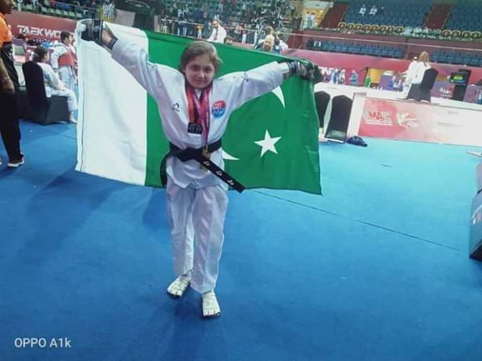 Ayesha Ayaz wins Gold medal for Pakistan at UAE in international Taekwondo Open Championship held in Fujairah