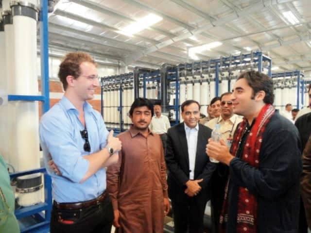 Bilawal Bhutto and David James meeting
