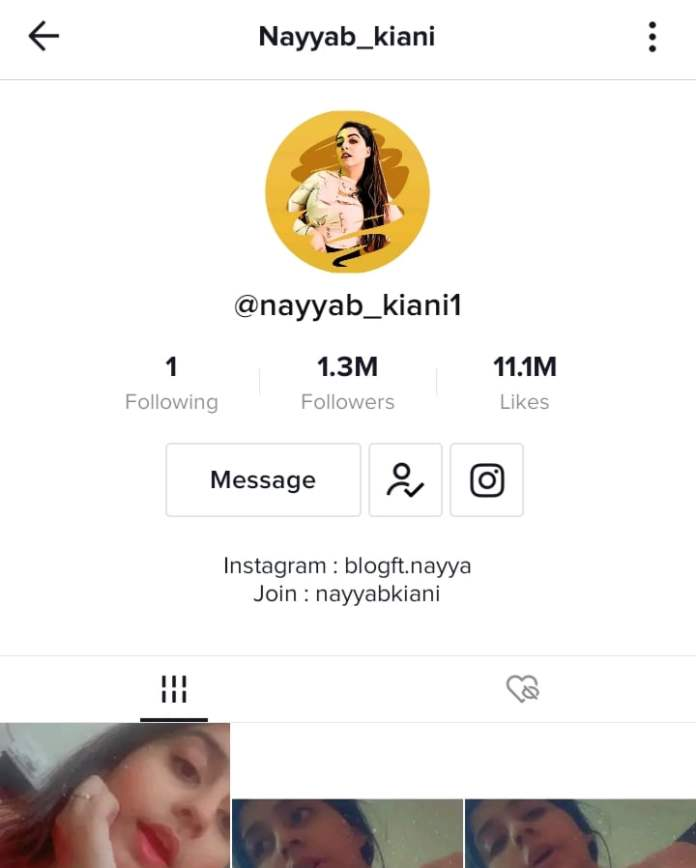 Nayyab Kiani TikTok profile