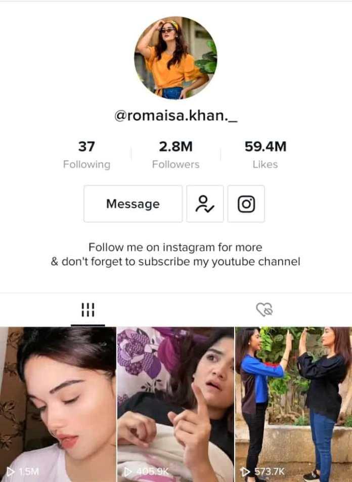 Romaisa Khan TikTok profile