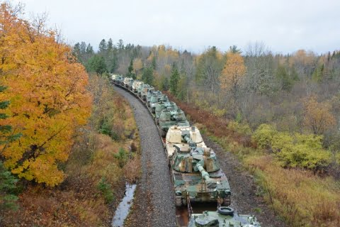 The United States is now moving trainloads of heavy armor to that exact area.  Looks like a fight is coming, right here in the USA.