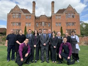 Team in Garden at New Place Hotel - Hampshire