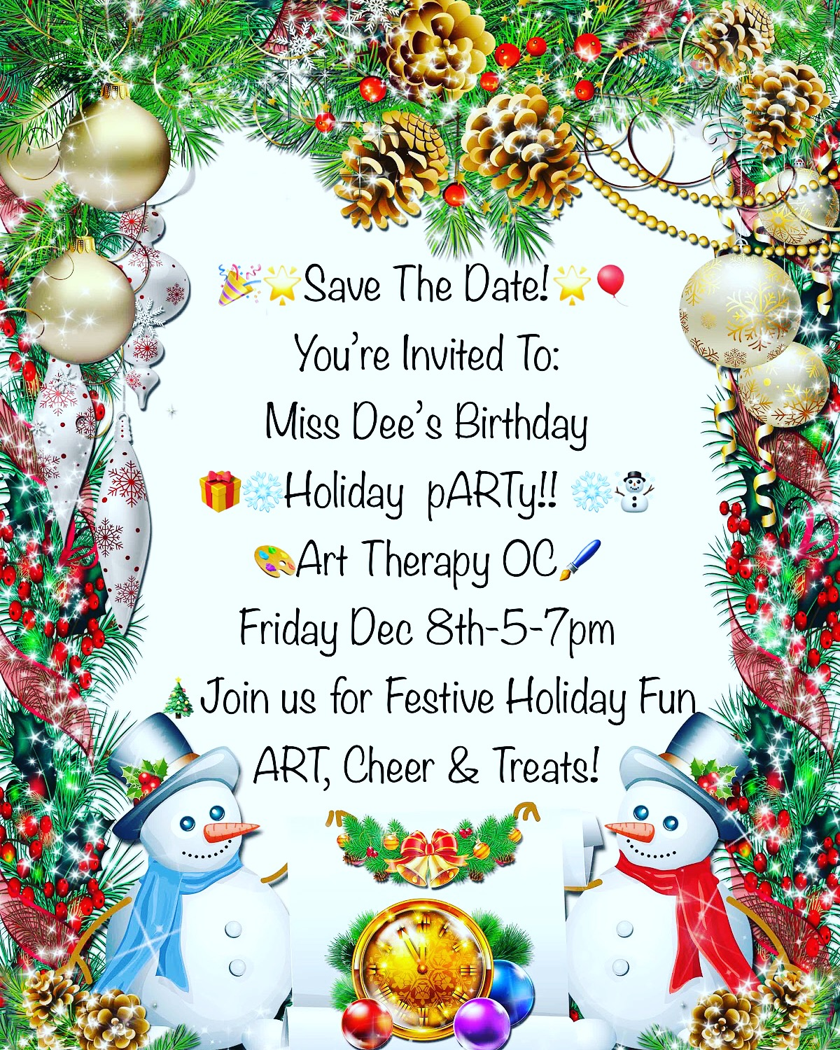 Art Therapy Oc Holiday Party