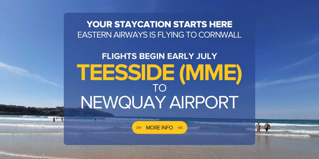 Newquay to Teesside Flights – Eastern Airways