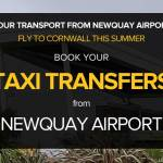 Transport form Newquay Airport banner