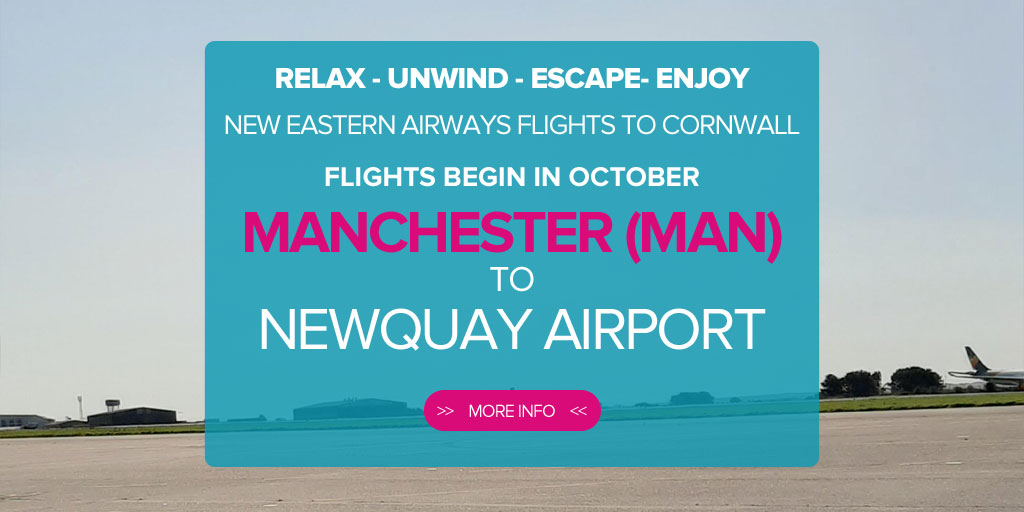 How do I fly from Manchester to Newquay