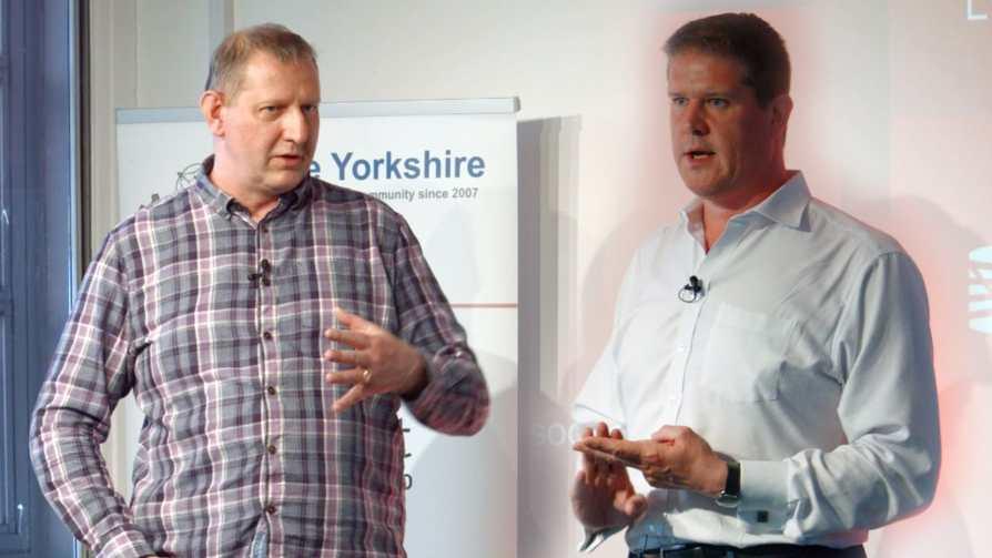Sean Craig and Chris Cheadle at Agile Yorkshire