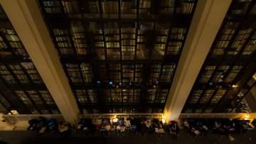 British Library book shelves