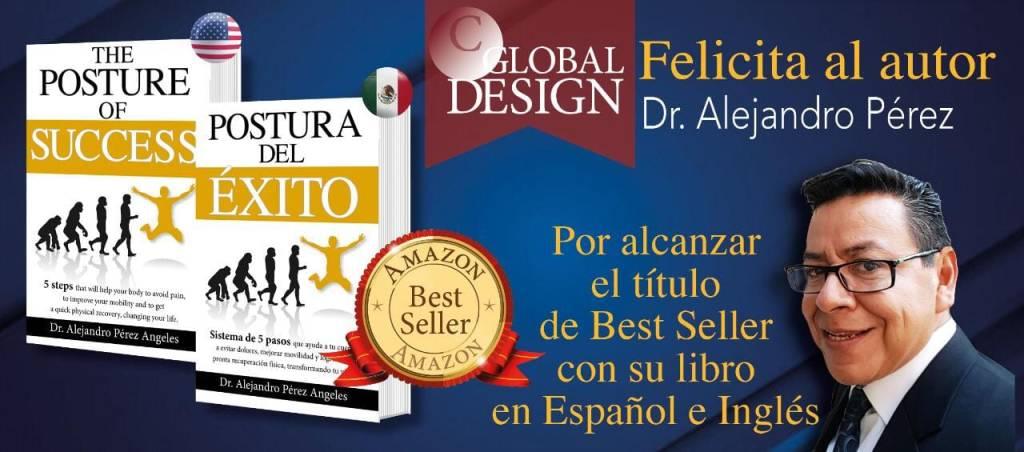 Best Seller con su libro en inglés y español