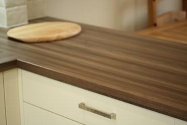 Milbourne Alabaster - walnut laminate worktop