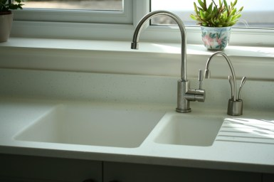 Jefferson sage - under mount sink with steaming hot and chilled filtered tap
