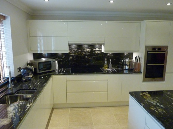 Bosch induction hob in brushed steel