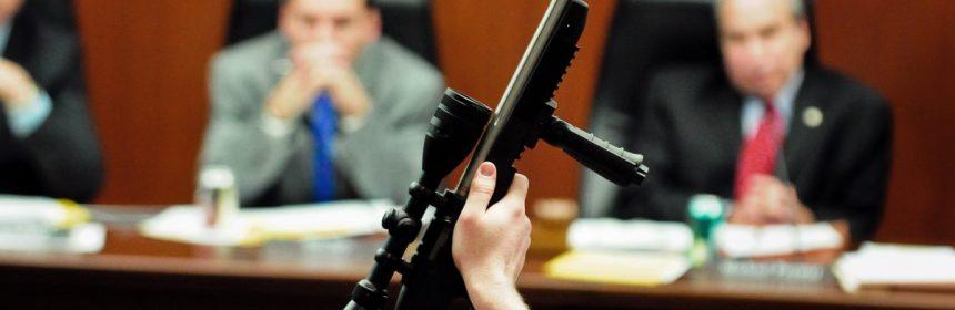 A gun owner testifying at a hearing on proposed new gun laws in St. Paul, Minn. 6 Feb, 2013. (AP Photo/The St. Paul Pioneer Press, Ben Garvin)
