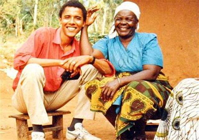 Young President Obama and his Kenyan Grandmother