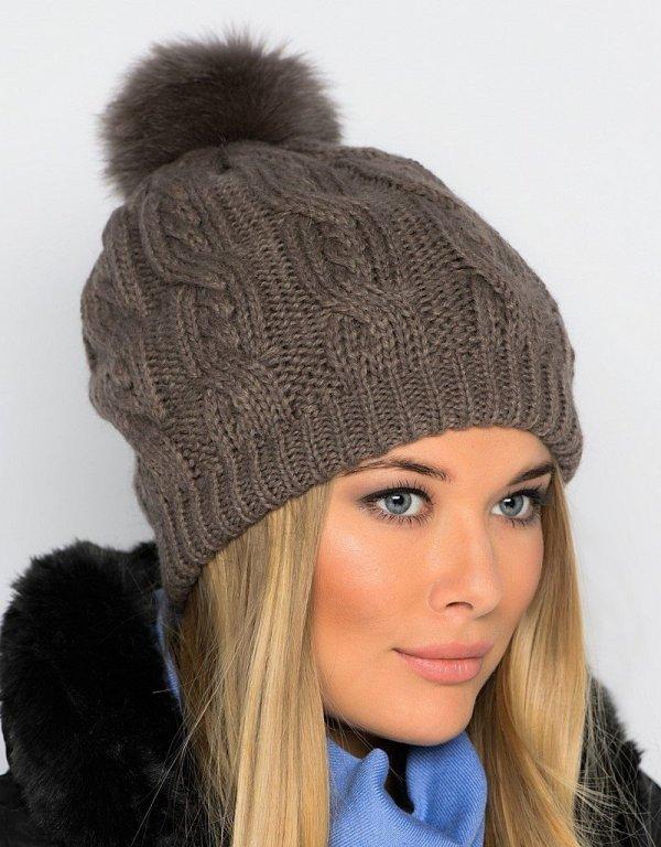 Модные вязаные шапки, меховые шапки, зимние шапки 2017 ...