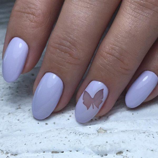 Сиреневый маникюр: стильный и модный дизайн ногтей ...