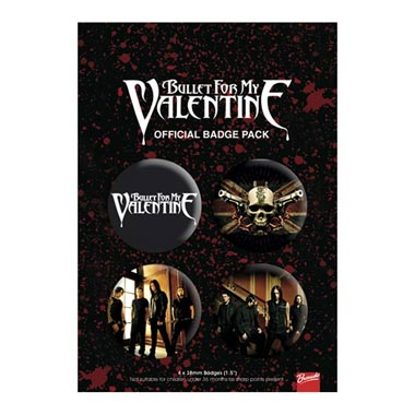 Pack Badges Bullet For My Valentine Boutique Bullet For