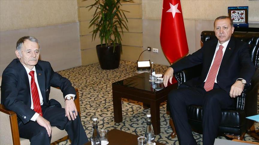 Депутат Украины Джемилев просит у Эрдогана денег на военное подразделение