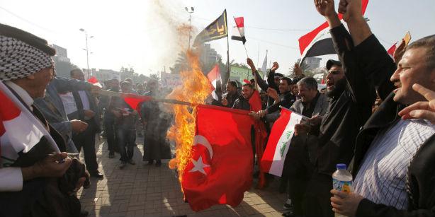 В Багдаде прошла антитурецкая демонстрация