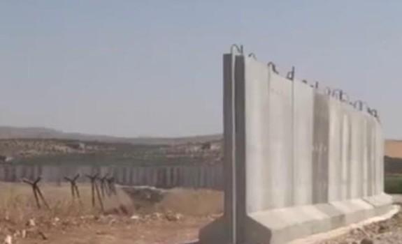 Турция строит стену на границе с Сирией