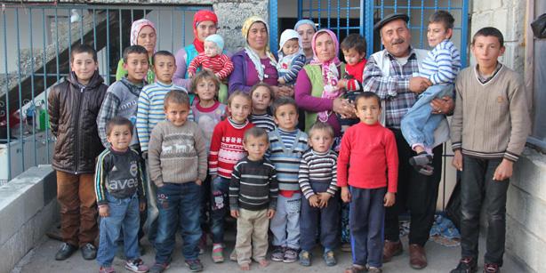 В Газиантепе живет семья с 17 детьми