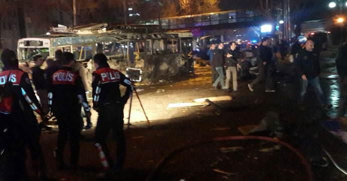 Мощный взрыв в центре Анкары