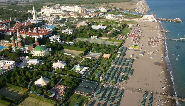 Почти 700 5-звездочных отелей действуют по всей Турции