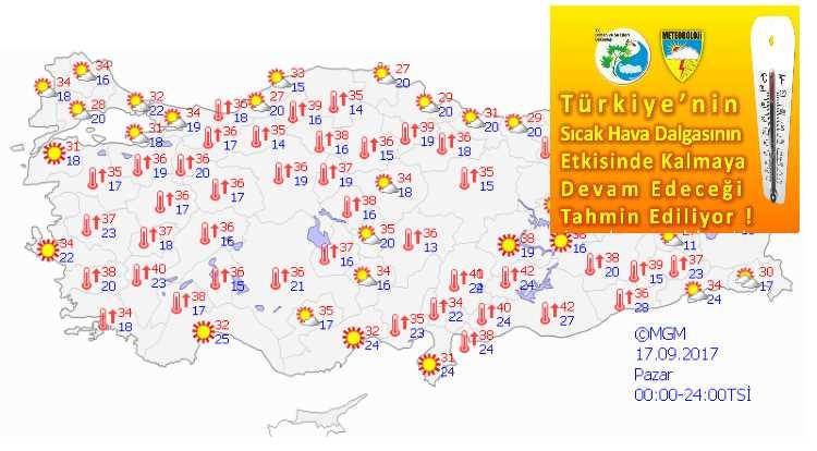 Аномально жаркие выходные ожидают Турцию