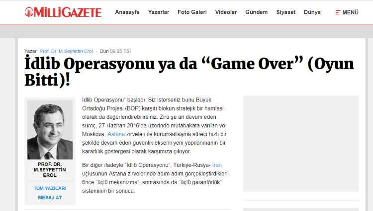 Операция в Идлибе, или «Game Over»!