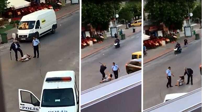 Полицейские избили женщину посреди улицы в Алании
