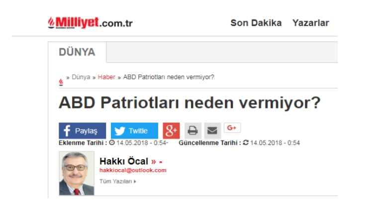 Почему США не дают Турции «Пэтриоты»?